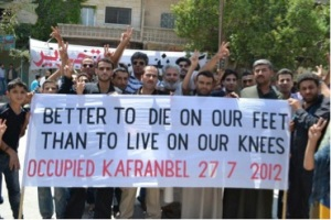 """Better to live on our feet, than die on our knees."""