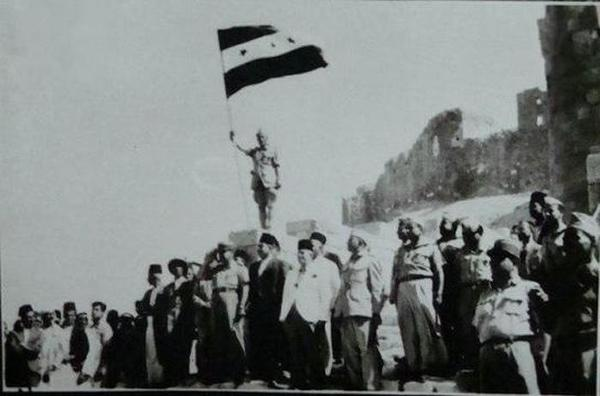 Independence Flag raised in Aleppo