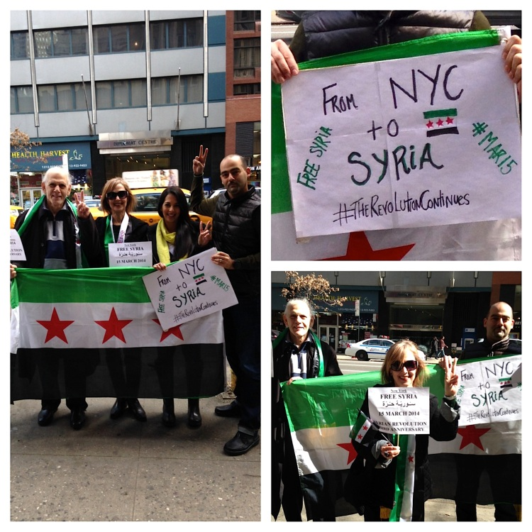 Solidarity From NYC to Syria on the 3rd Anniversary
