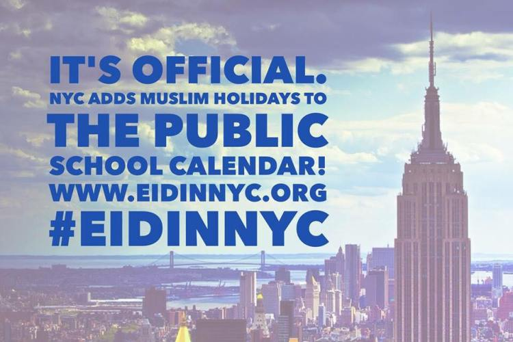 Muslim NYC Public School Holidays