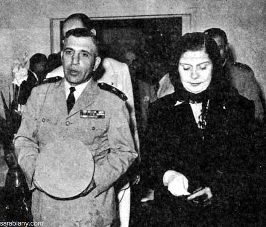 1953: President Adib Shishakli and the First Lady Mrs. Fatina Fanari
